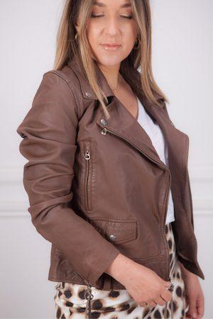 MDK / Munderingskompagniet Women Leather Jackets - Seattle New Thin Leather Jacket in Bison