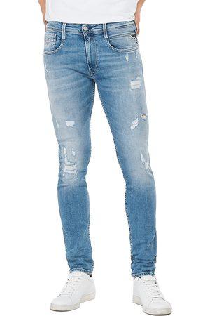 Replay Anbass 573 Bio Slim Fit Jeans - Light Rip & Repair