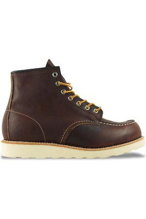 """Red Wing 8138 6"""" Moc Toe Leather Boot - Briar Oil Slick"""