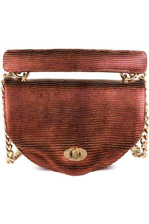 THALÈ BLANC Crescent Crossbody: Designer Crossbody Chain Handbag in Copper