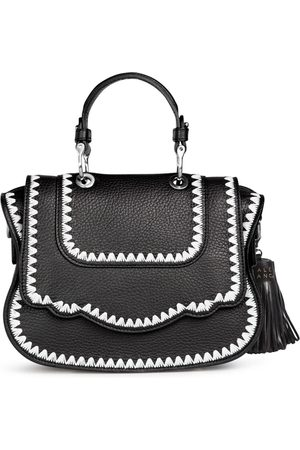 THALÈ BLANC Audrey Crossbody: Designer Crossbody Bag with White Stitching