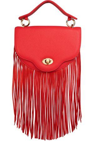 THALÈ BLANC Crescent Fringe Crossbody: Designer Crossbody Chain Handbag in
