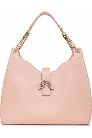 THALÈ BLANC Empire Cheetah Hobo Bag: Designer Shoulder Bag in Nude- Leather