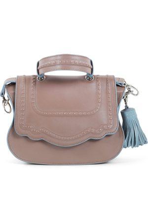 THALÈ BLANC Audrey Discrete Crossbody: Taupe Designer Crossbody Bag