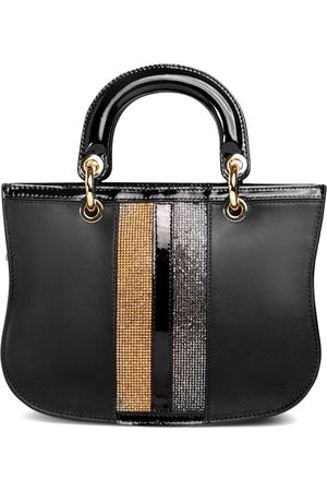 THALÈ BLANC Mademoiselle Satchel: Designer Crossbody Bag in Leather with Crystals