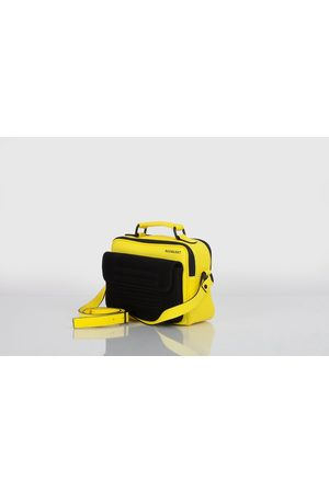 Hackney yellow leather and suede shoulder bag