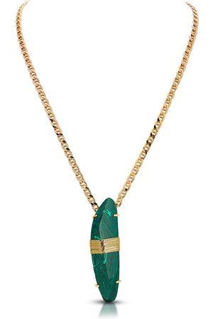 THALÈ BLANC Necklace with Malachite Stone