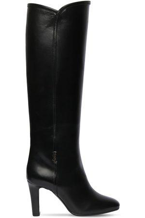 Saint Laurent 90mm Jane Leather Tall Boots