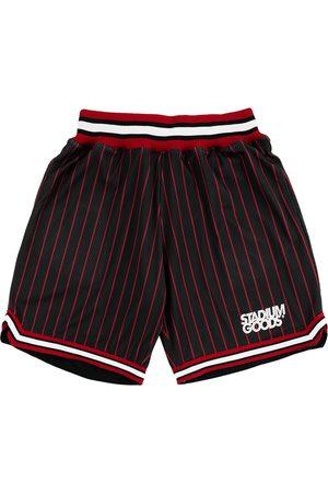 Stadium Goods Shorts - Chi logo-print pinstriped track shorts