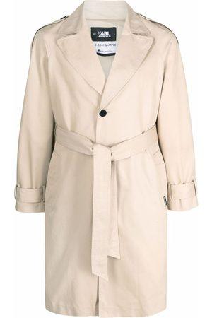 Karl Lagerfeld Men Trench Coats - Logo-tape trench coat