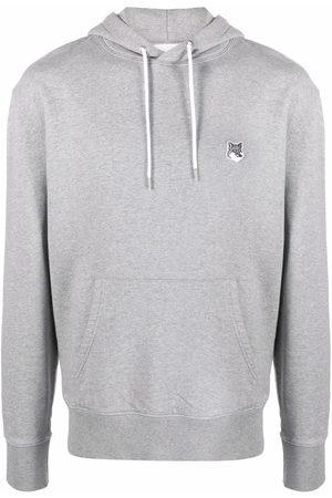 Maison Kitsuné Logo drawstring hoodie