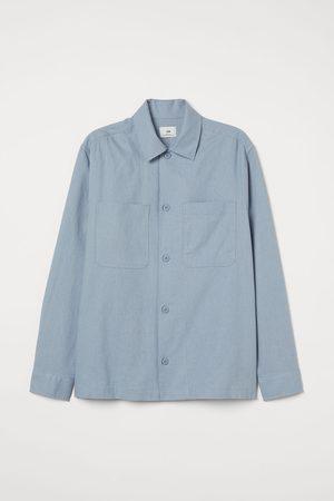 H&M Linen-blend shirt jacket