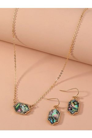 YOINS Colorful Shell Charm Necklace & Earrings Set