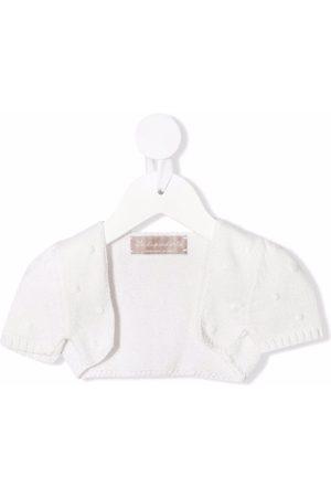 LA STUPENDERIA Baby Boleros - Polka dot-embroidered cotton bolero