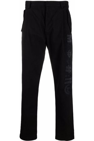 Moschino Men Stretch Trousers - Symbols stretch-gabardine baggy trousers