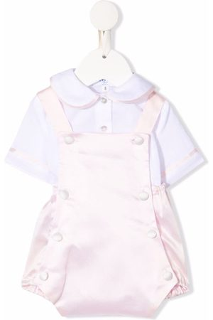 SIOLA Piped-trim cotton playsuit set