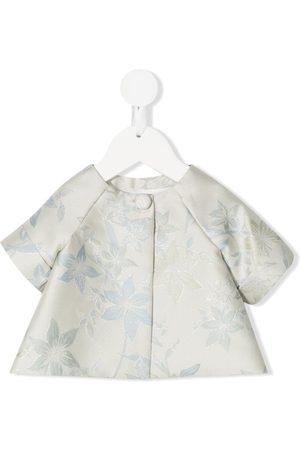 LA STUPENDERIA Floral jacquard blouse