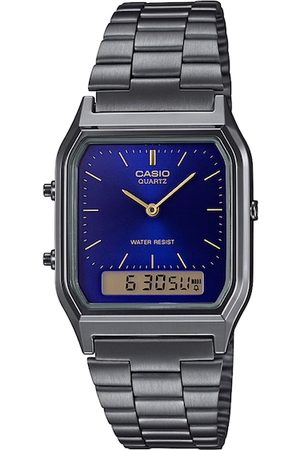 Casio Unisex Silver-Toned Analogue and Digital Watch D183