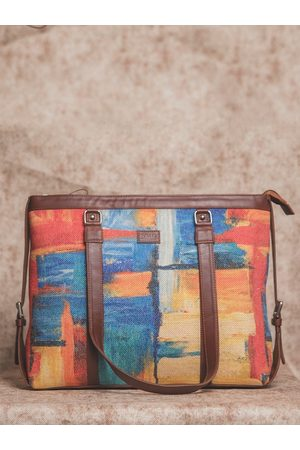 ZOUK Multicoloured Abstract Print Tote Bag