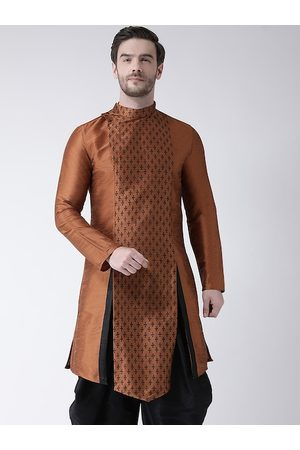 DEYANN Men Copper-Toned Printed Kurta