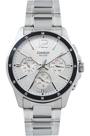 Casio Enticer Men Silver-Toned Multi-Dial Watch MTP-1374D-7AVDF-A833