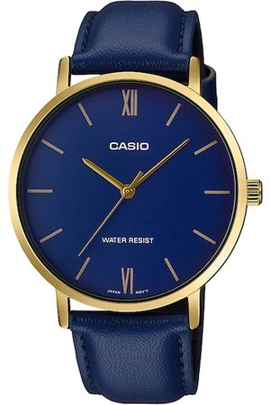 Casio Men Blue Analogue Leather Watch A1781