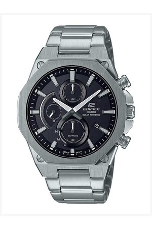 Casio Men Black & Silver-Toned Analogue Watch EX527