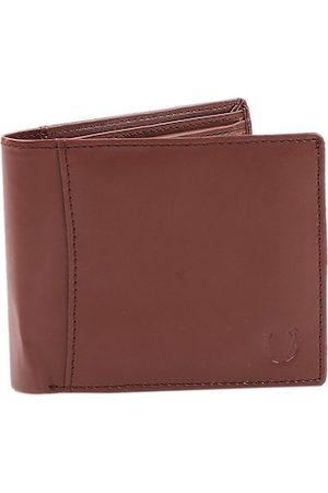 Blacksmith Men Brown Textured Two Fold Wallet