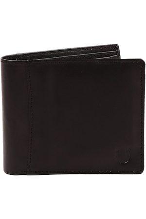 Blacksmith Men Black Solid RFID Two Fold Wallet