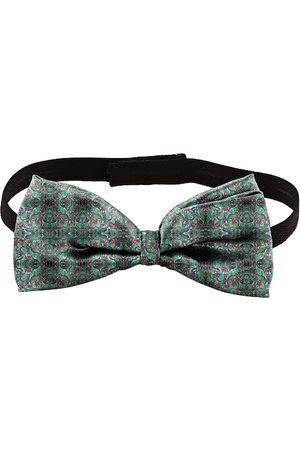 Blacksmith Men Green Printed Bow Tie