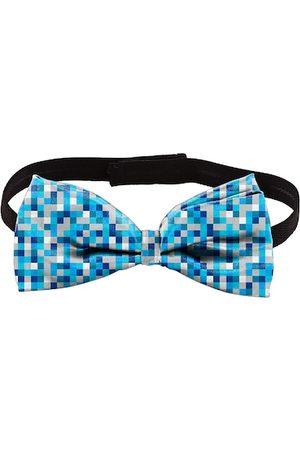 Blacksmith Men Blue & White Checked Bow Tie