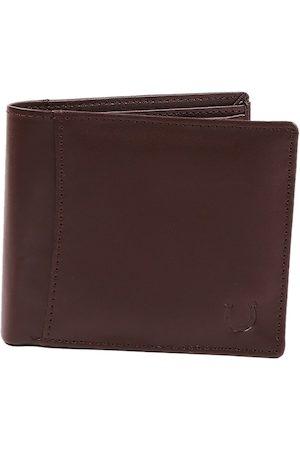 Blacksmith Men Brown Solid Three Fold Wallet