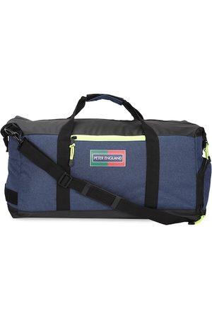 Peter England Men Blue Solid Duffel Bag