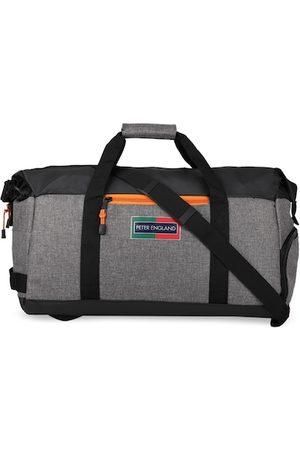 Peter England Men Grey & Black Colourblocked Medium Duffle Bag