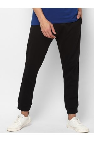 Allen Solly Men Black Solid Straight-Fit Joggers
