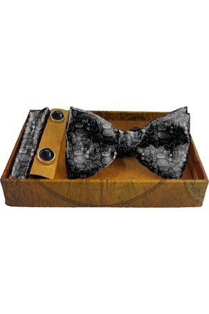Blacksmith Men Black & White Pizza Fantasy Printed Satin Accessory Gift Set