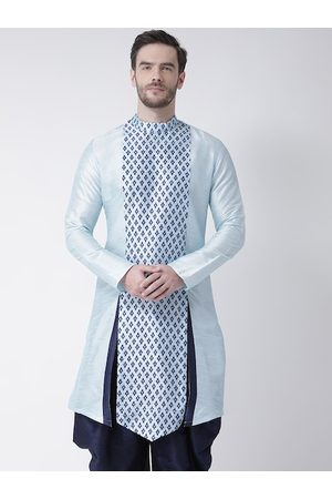 DEYANN Men Blue Ethnic Motifs Printed Kurta