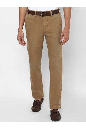 AMERICAN EAGLE OUTFITTERS Men Beige Slim Fit Solid Chinos