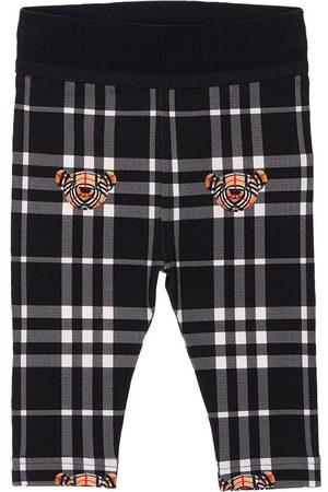 BURBERRY Girls Leggings - Bear Print Cotton Leggings