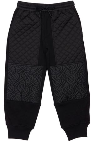 Burberry Boys Sports Trousers - Logo & Quilted Cotton Sweatpants