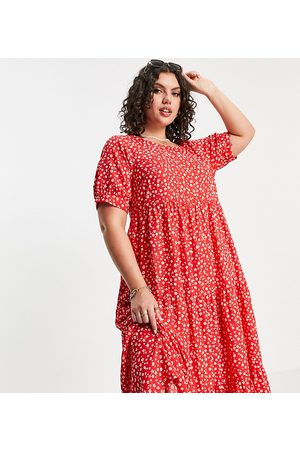 Yours Exclusive puff sleeve maxi dress in floral