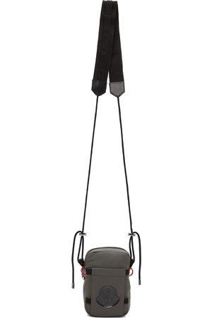 Moncler Grey Nylon Messenger Bag