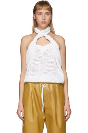 Women Halterneck Tops - Givenchy Open Knit Halter Top