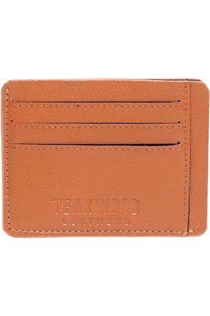 Teakwood Leathers Men Tan Textured Card Holder