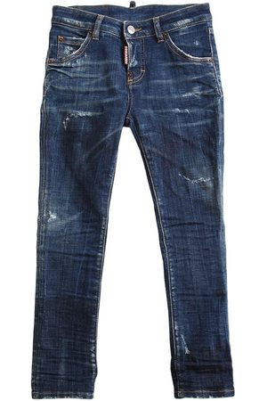 Dsquared2 Girls Jeans - Distressed Stretch Cotton Jeans