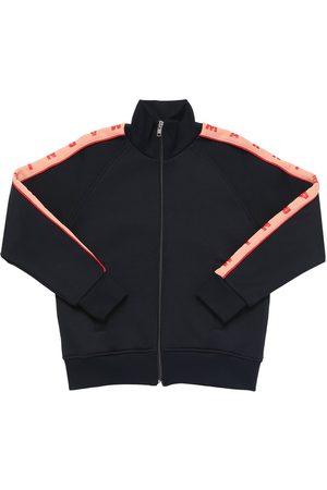 Marni Girls Sweatshirts - Logo Zip-up Cotton & Nylon Sweatshirt