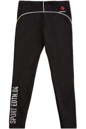 Dsquared2 Girls Stretch Trousers - Printed Stretch Cotton Jersey Leggings