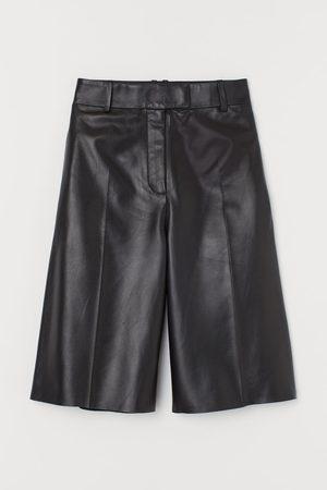 H & M Leather Bermuda shorts