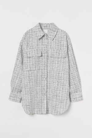 H&M Bouclé shirt jacket