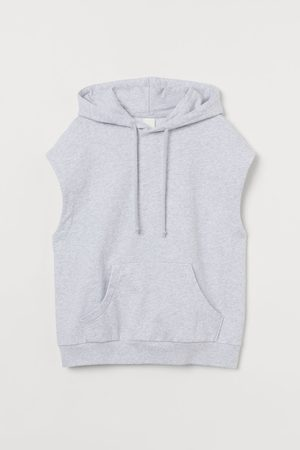 H&M Sleeveless hoodie - Grey